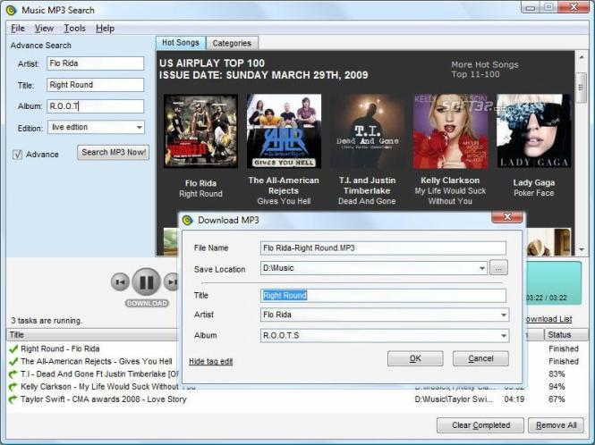 Music MP3 Search Screenshot