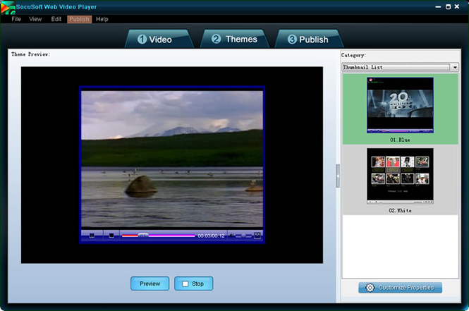 Socusoft Web Video Player Screenshot