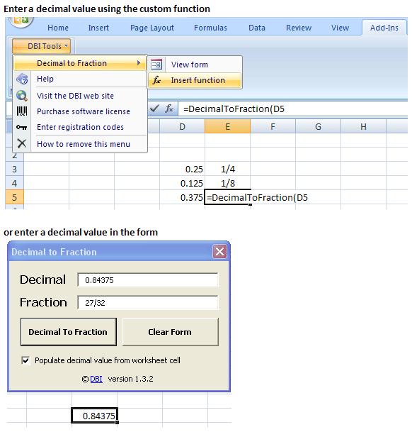 Decimal to Fraction Screenshot 1
