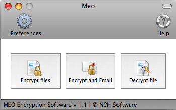 MEO File Encryption for Mac Screenshot