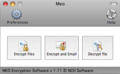 MEO File Encryption for Mac 1