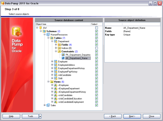 EMS Data Pump for Oracle Screenshot 1