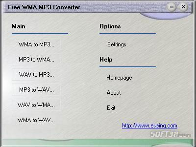 Eusing Free WMA MP3 Converter Screenshot 2