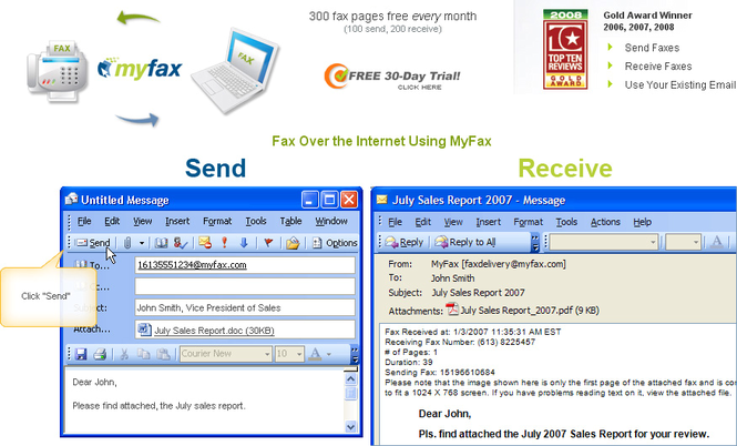 My Fax Online Screenshot