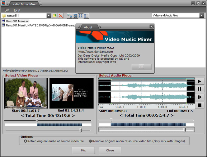 Video Music Mixer Screenshot