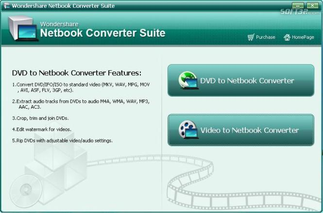 Wondershare Netbook Converter Suite Screenshot