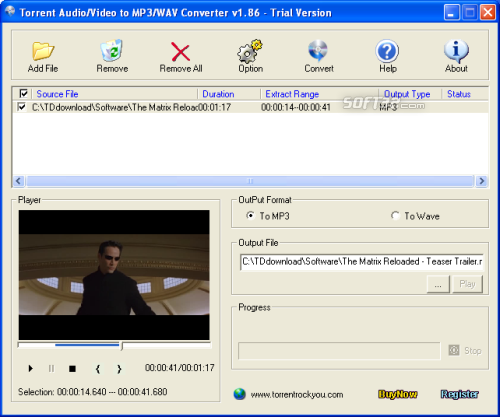 Torrent All to MP3 Converter Screenshot 2