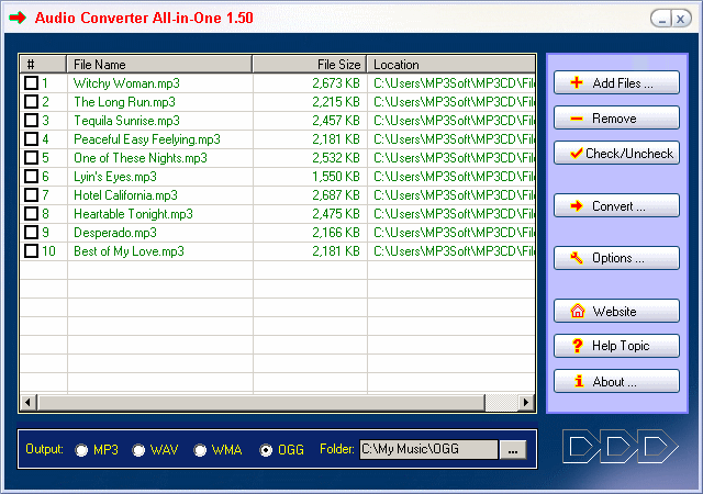 Audio Converter All-in-one Screenshot
