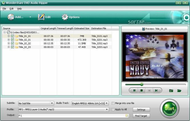 Wondershare DVD Audio Ripper Screenshot 1