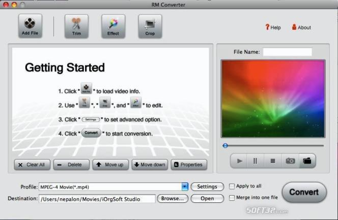 RM Converter for Mac Screenshot 2