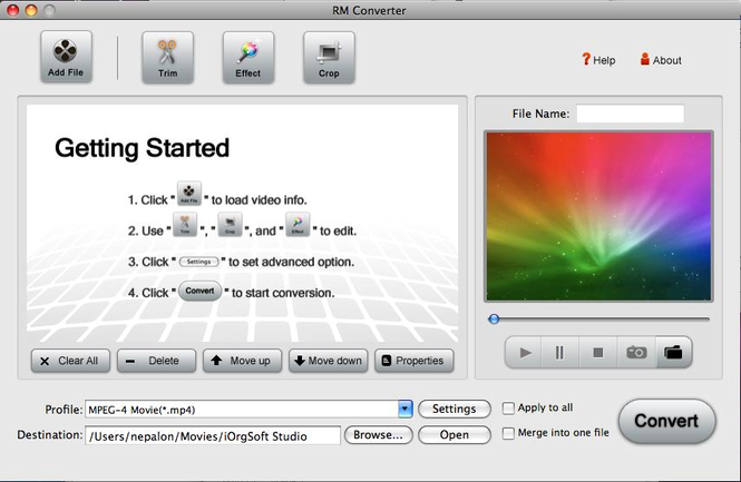 RM Converter for Mac Screenshot 1