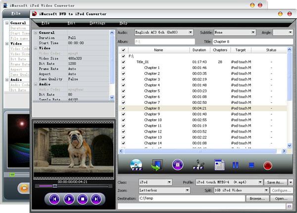 iMacsoft DVD to iPod Suite Screenshot 1