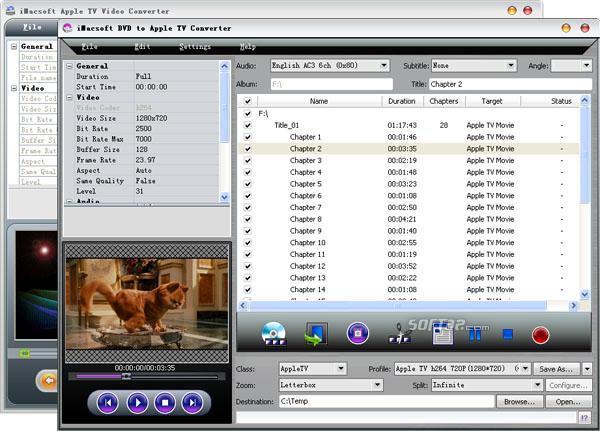 iMacsoft DVD to Apple TV Suite Screenshot 2