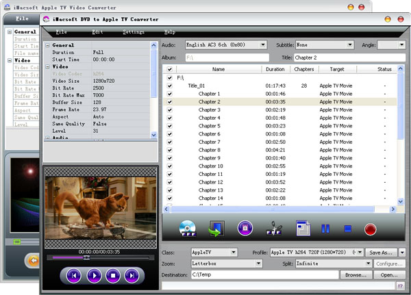 iMacsoft DVD to Apple TV Suite Screenshot