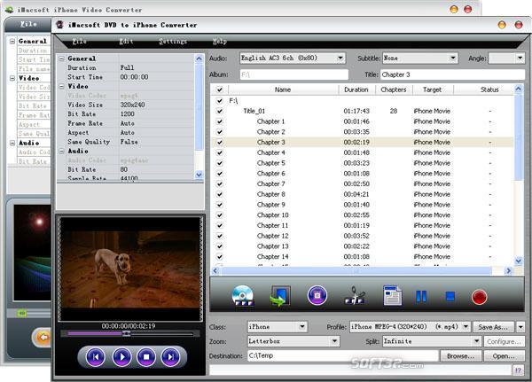 iMacsoft DVD to iPhone Suite Screenshot 2