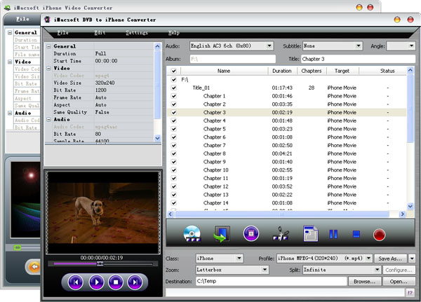 iMacsoft DVD to iPhone Suite Screenshot