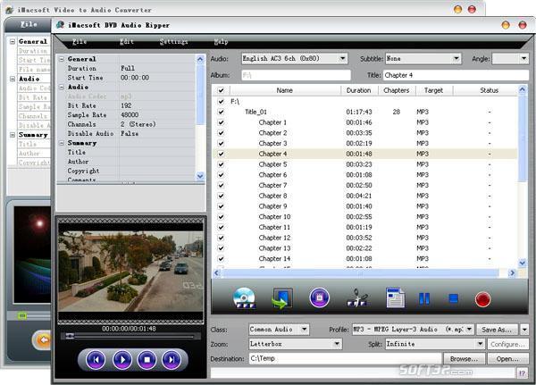 iMacsoft DVD Audio Ripper Suite Screenshot 2