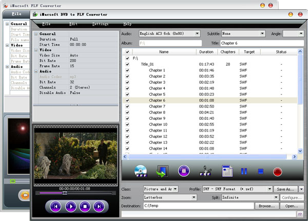 iMacsoft DVD to FLV Suite Screenshot