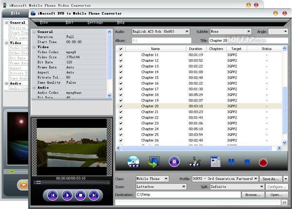 iMacsoft DVD to Mobile Phone Suite Screenshot 2