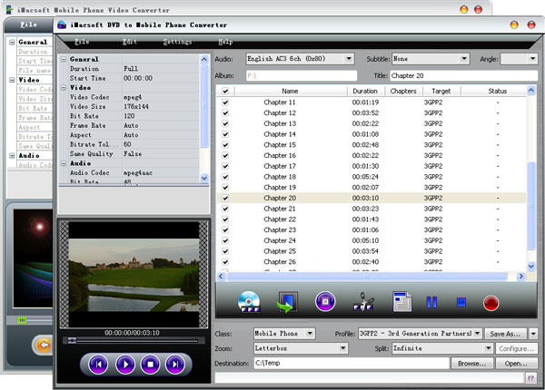 iMacsoft DVD to Mobile Phone Suite Screenshot