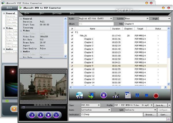 iMacsoft DVD to PSP Suite Screenshot 2