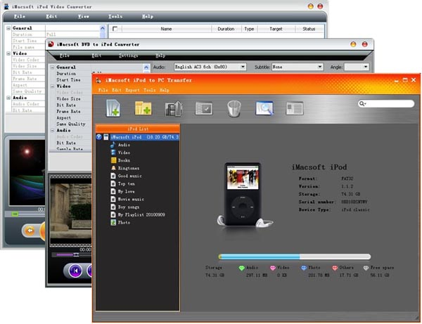 iMacsoft iPod Mate Screenshot