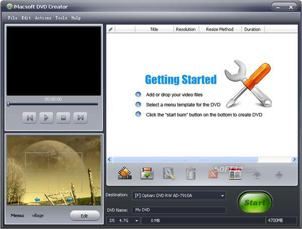 iMacsoft DVD Creator Screenshot 2