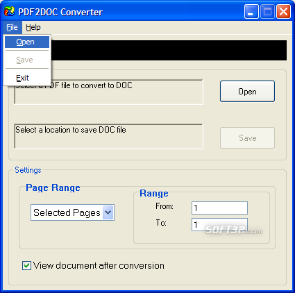 PDF to Doc Converter Screenshot 2