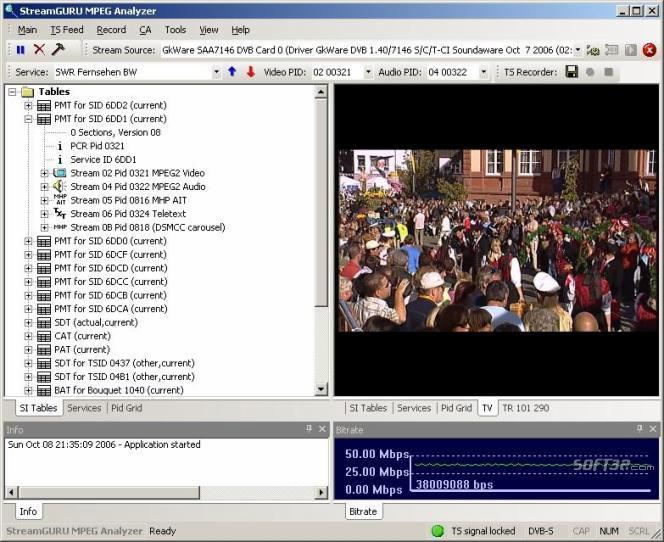 StreamGuru MPEG & DVB Analyzer Screenshot 2