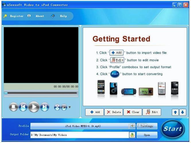 uSeesoft Video to iPod Converter Screenshot 2