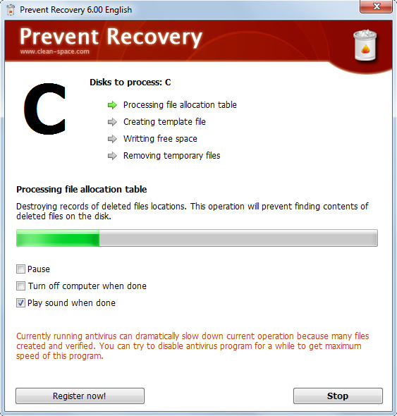 Prevent Recovery Screenshot 2
