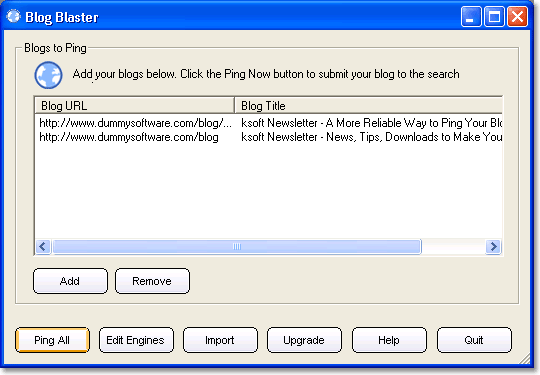 Blog Blaster Screenshot