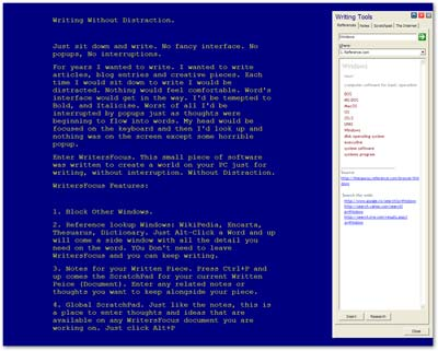 M6.Net WritersFocus Screenshot