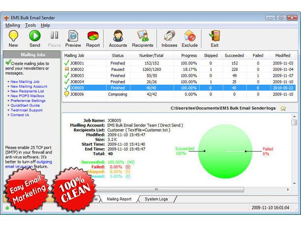 EMS Bulk Email Sender Screenshot