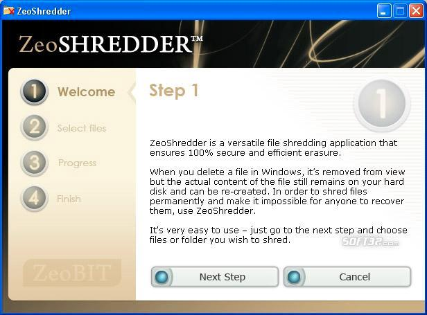 ZeoShredder Screenshot
