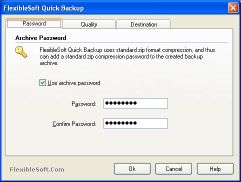 FlexibleSoft Quick Backup Screenshot