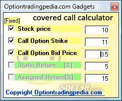 covered_call_calculator Screenshot 2
