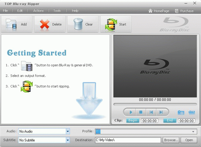 TOP Blu-ray Ripper Screenshot
