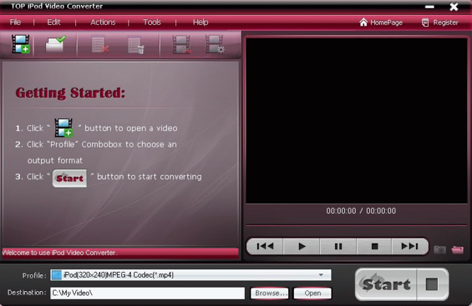 TOP iPod Video Converter Screenshot 1
