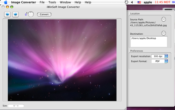 iWinSoft Image Converter for Mac Screenshot