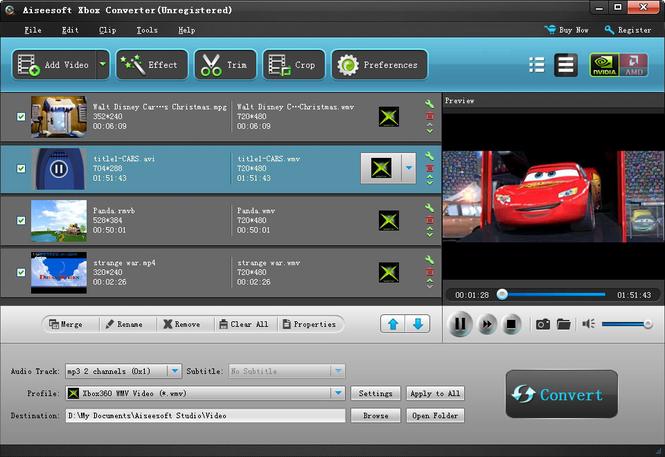 Aiseesoft Xbox Converter Screenshot
