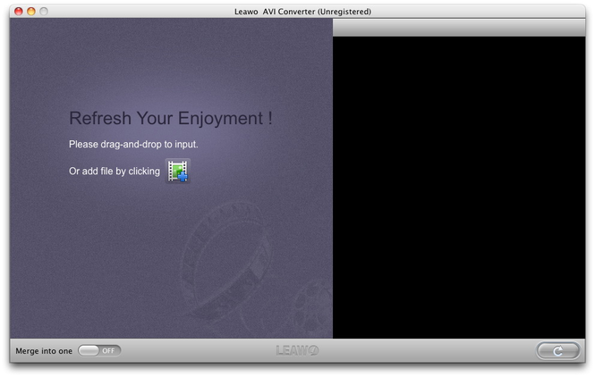 Leawo Mac AVI Converter Screenshot