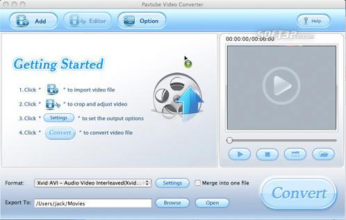 Pavtube Video Converter for Mac Screenshot 2