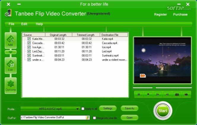 Tanbee Flip Video Converter Screenshot 1