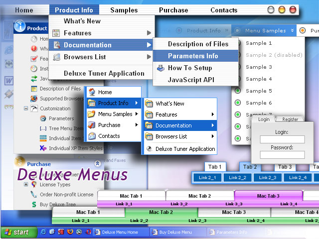 Deluxe Menus Screenshot 1