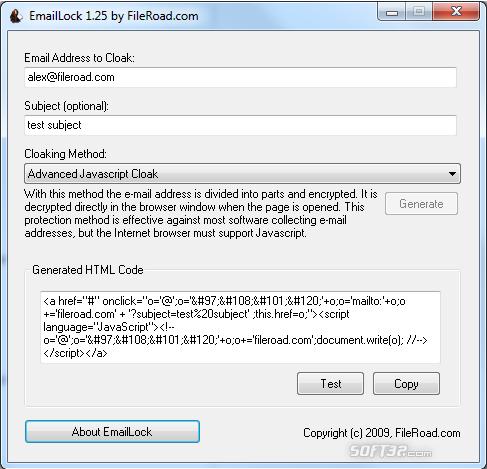 EmailLock Screenshot 2