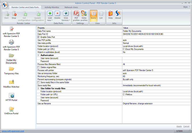 PDF Render Center Screenshot 1