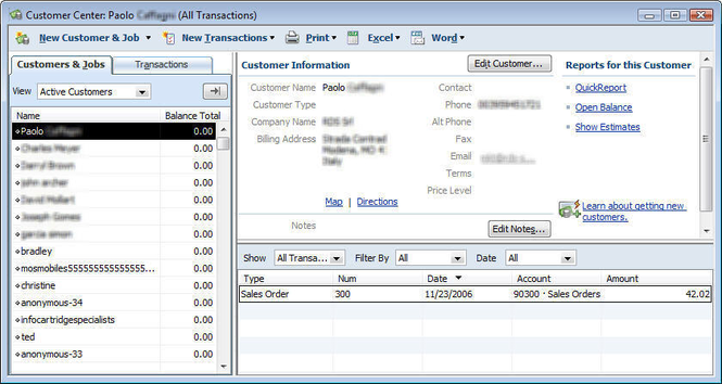 QuickBooks Integration for osCommerce Screenshot