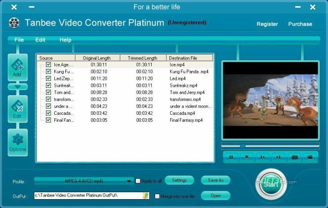 Tanbee Video Converter Screenshot 2