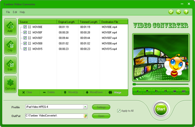 Tanbee Video Converter Screenshot 1